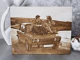 Подарок любимой жене Оригинальный подарок на свадьбу (портрет выжженный на дереве), фото 6