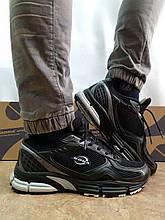 Літні шкіряні чорні кросівки сітка Bona