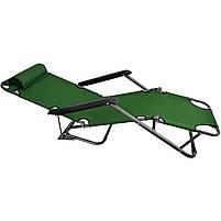 Крісло-шезлонг Stenson MH-3068M, 153 * 60 * 80 см зелений, фото 2