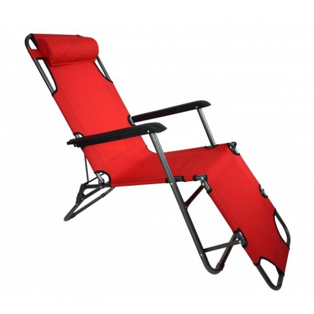 Крісло лежак Stenson MH-3068M, 153 * 60 * 80 см червоний