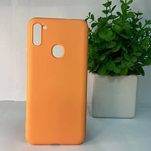 Чехол Samsung A11 A115 M11 M115 оранжевый