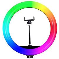 Кольцевая лампа для селфи Ring Light MJ26 RGB LED, 26 см, фото 2