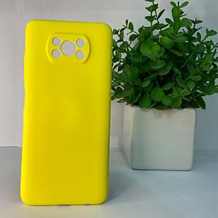 Чехол Xiaomi Poco X3 желтый