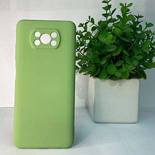 Чехол Xiaomi Poco X3 зеленый
