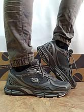 Літні шкіряні сірі кросівки сітка Bona