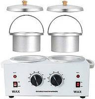 Воскоплав баночный двойной Double Wax Warmer для разогрева воска