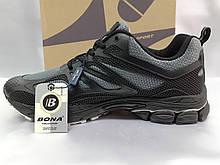 Літні комфортні чорні кросівки сітка Bona