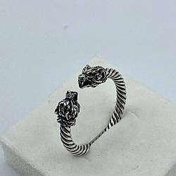 Серебряное кольцо с наконечниками Орла