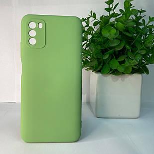 Чехол Xiaomi Poco M3 зеленый