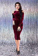 """Платье """"Миледи"""" (бордовый), фото 1"""