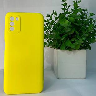 Чехол Xiaomi Poco M3 желтый