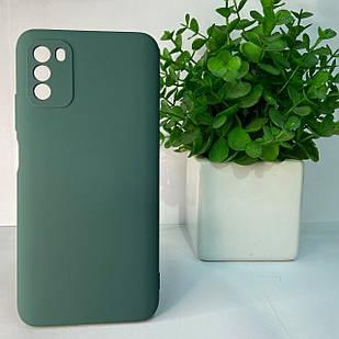 Чехол Xiaomi Poco M3 темно-зеленый