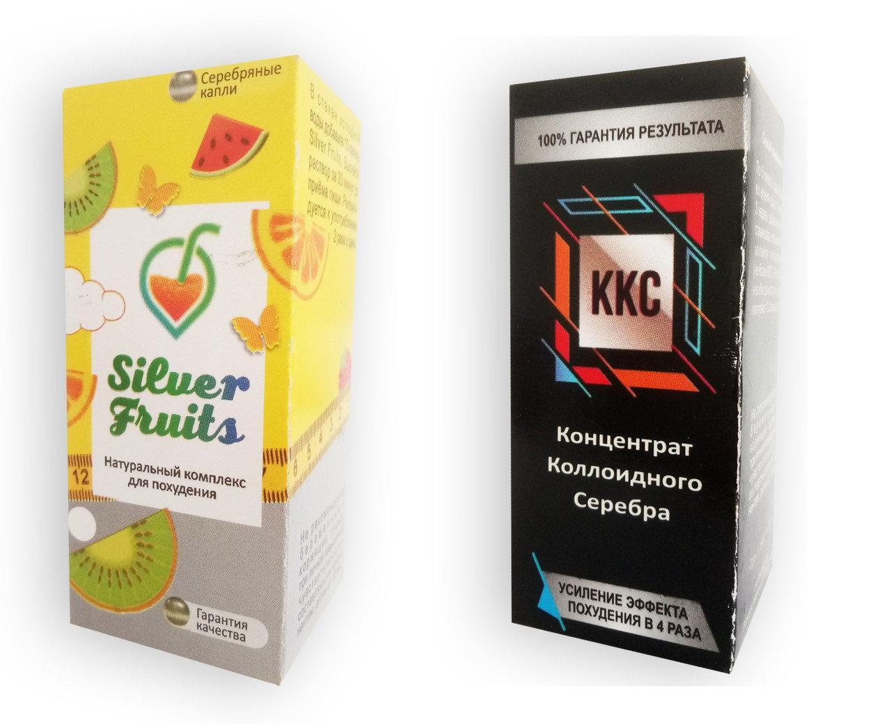 Silver Fruits - Краплі + ККС - Концентрат колоїдного срібла - Комплекс для схуднення (Сілвер Фрутс)