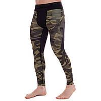 Штаны мужские компрессионные тайтсы мужские Venum 9613 размер M (165-170см) Black-Camouflage