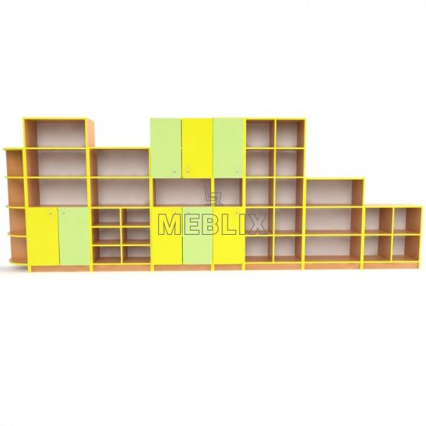 Учебная стенка для школы  ПРЕМІУМ. Школьные шкафы для дидактических материалов