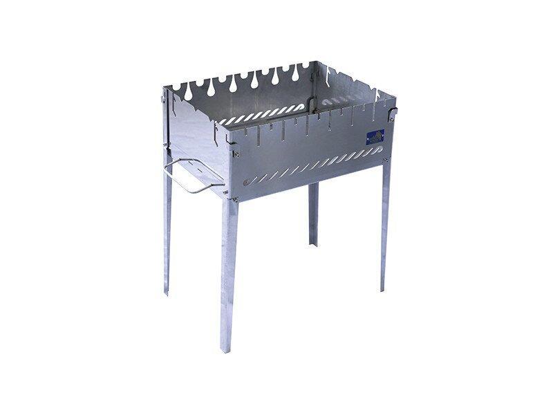 Розкладний мангал валізу на 6 шампурів з нержавіючої сталі