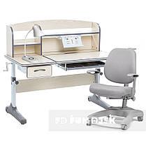 Комплект растущая парта Cubby Ammi Grey + ортопедическое кресло FunDesk Delizia Grey, фото 3