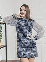 "Платье ""Лаура"" (темно-синий+серый), фото 1"