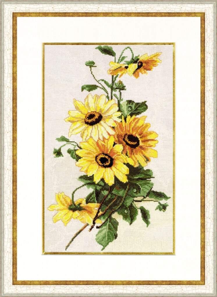Набор для вышивания Золотое руно Солнечные цветы (БР-014)