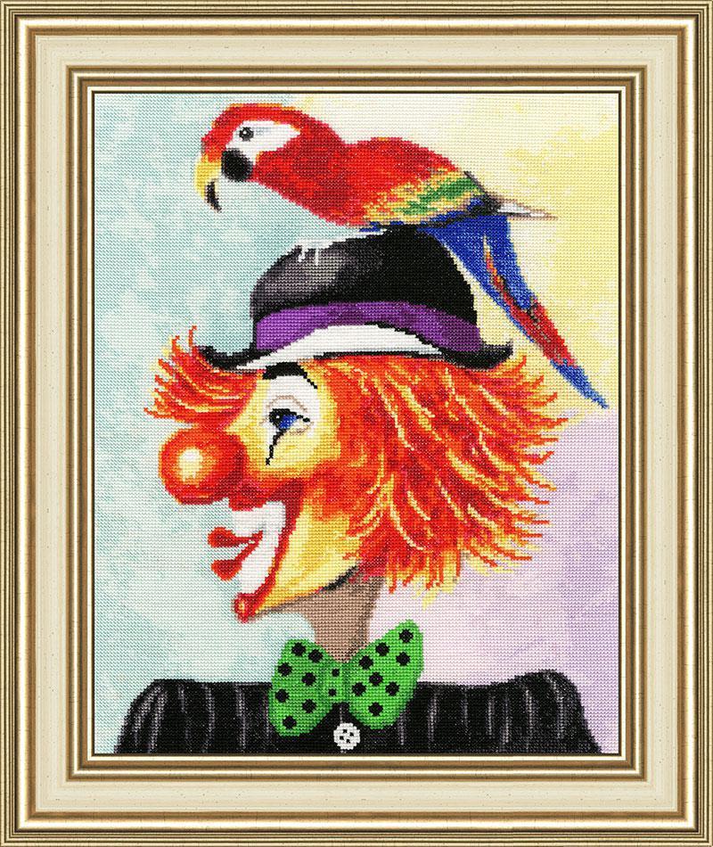 Набор для вышивания Золотое руно Клоун с попугаем (ВК-030)