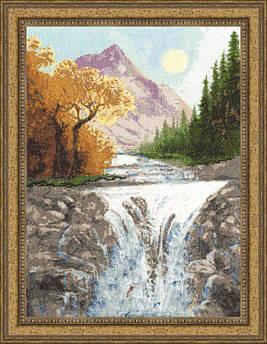Набор для вышивания Золотое руно Осень в горах (ВМ-013)