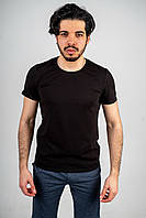 Мужская футболка из стрейч кулира черная