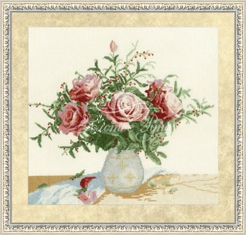 Набор для вышивания Золотое руно Розы и ягоды (ЛЦ-047)
