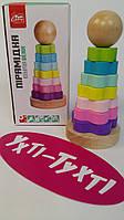 Деревянная игра 18483 Fun Game, деревянная пирамидка