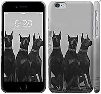 """Чехол пластиковый для iPhone 6S с принтом """"Доберманы"""" (8CASE)"""