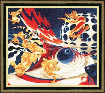 Набор для вышивания Золотое руно Золотые рыбки (Ф-030 )