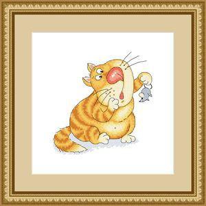 Набор для вышивания Сделано с любовью Поймал мыша-ешь не спеша (СК-028)