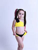 Купальник для девочки Chirks SK0019128 128 см Светло-желтый с черным