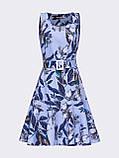 Плаття-міні приталеного силуету з воланом по низу ЛІТО, фото 4