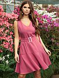 Плаття-міні приталеного силуету з воланом по низу ЛІТО, фото 5