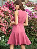 Плаття-міні приталеного силуету з воланом по низу ЛІТО, фото 6