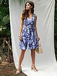 Плаття-міні приталеного силуету з воланом по низу ЛІТО, фото 2