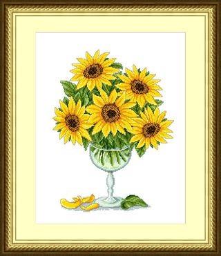 Набор для вышивания Сделано с любовью Солнце в бокале (ЦВ-028)