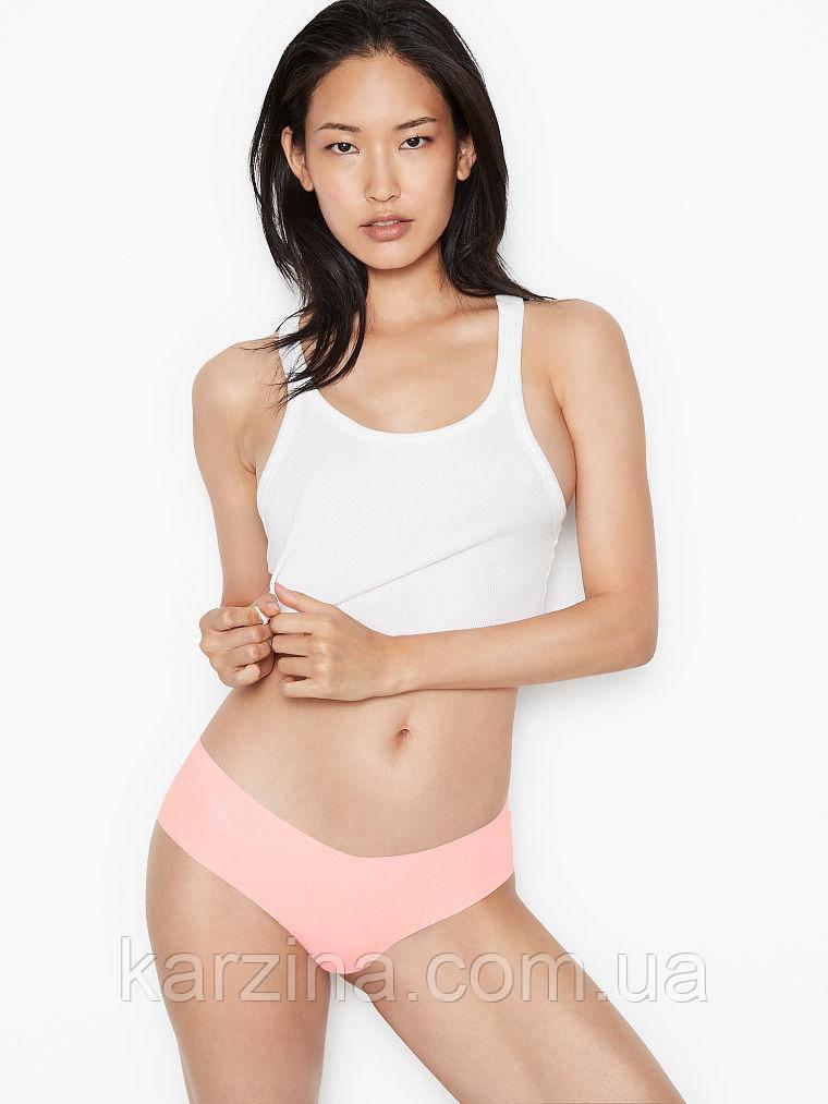 Бесшовные трусики с шиммером Victoria's Secret No-Show Shimmer Hiphugger Panty р.S