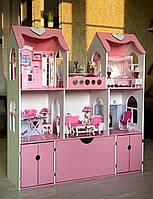 Домик для Барби (Barbie) c выдвижным ящиком террасой и двумя гаражами
