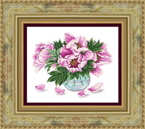 Набор для вышивания Сделано с любовью Розовые пионы (ЦВ-065)