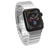 Ремешок металлический для Apple Watch 1/2/3/4 Серебристый 38-40 мм Браслет металический