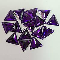 Стразы пришивные Lux Треугольник 12мм. Purple Velvet