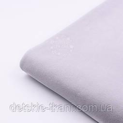 Лоскут х / б велюру блідо-сірого кольору, розмір 17*40 см