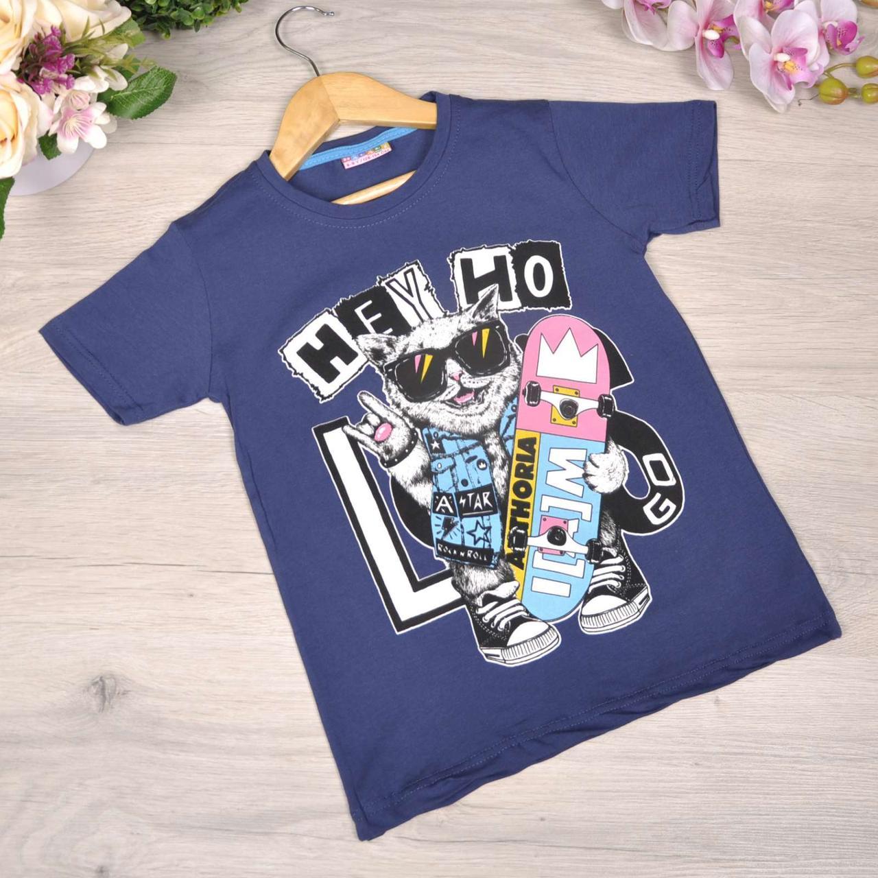 Дитяча футболка, трикотаж, для хлопчика 8-12 років (4 од. уп)