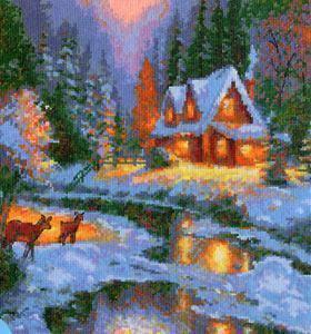 Набор для вышивания Чудесная игла Зимняя сказка (45-01)
