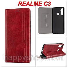 Чохол-книжка Gelius Leather New для Realme C3 (Червоний)