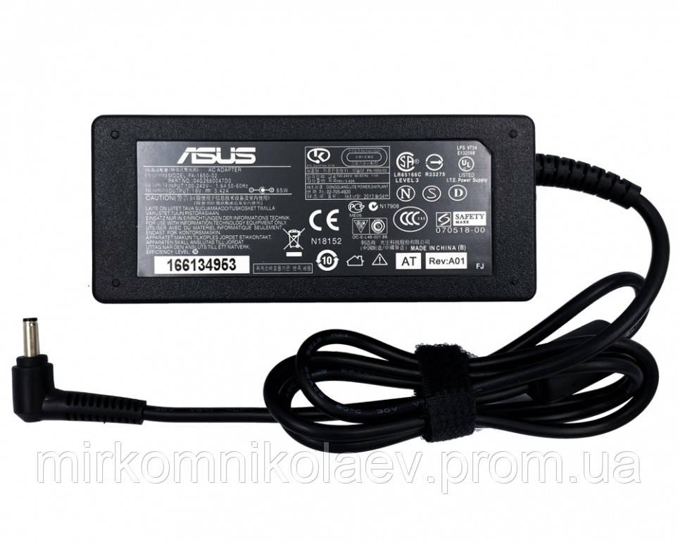 Блок питания для ноутбука Asus 19V 3.42A 65W (DC 4.0*1.35)