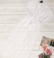 Белая прозрачная шифоновая туника. Одежда для пляжа.