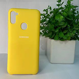 Чехол Samsung A11 A115 M11 M115 желтый