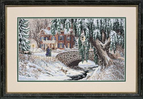 Набор для вышивания Dimensions Зимний ручей (35111)